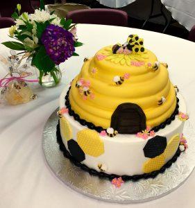 Beehive Baby Cake